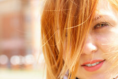 Young ginger-haired girl Royalty Free Stock Photos