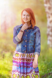 Young ginger-haired woman Royalty Free Stock Images