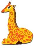 Young giraffe. Happy young giraffe sitting down illustration Royalty Free Stock Photo