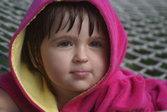 Young girl. Casual portrait of a three years old girl Stock Image