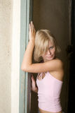 Young girl. Young attractive blonde teen girl Stock Image