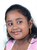 Young girl. Portrait of indian young girl on white background Royalty Free Stock Images