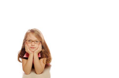 Young girl. Posing on an isolated background Stock Photography