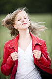 Young girl. Happy young girl in the nature stock image