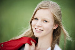 Young girl. Happy young girl in the nature royalty free stock images