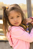 Young girl. Girl at playground Stock Photo