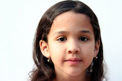 Young Girl. On white background Stock Images