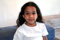 Young Girl. On white background Royalty Free Stock Photography