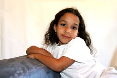 Young Girl. On white background Royalty Free Stock Photos