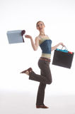 Young girl. A girl with shopping bags Royalty Free Stock Images