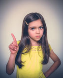 Young girl acting. Royalty Free Stock Image