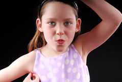 Young Girl Acting Silly stock photography