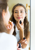 Young girl admiring himself Royalty Free Stock Photos