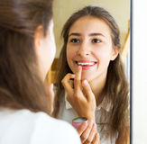 Young girl admiring himself Royalty Free Stock Photo