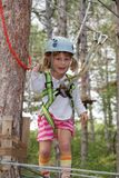 Young girl in adventure park Stock Photo