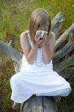 Young girl with allergies Royalty Free Stock Photography