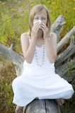 Young girl with allergies Stock Photography