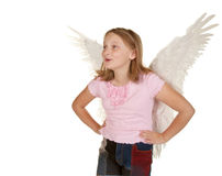 Young girl with angel fairy wings Stock Image