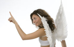 Young girl with angel's wings Stock Photos