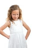 Young girl with angry face expression. Stock Photo