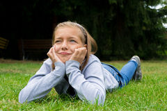 Young girl angry and sad Stock Image