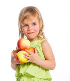 Young Girl with Apple Stock Photos