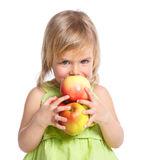 Young Girl with Apple Royalty Free Stock Photo
