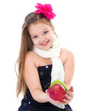Young girl with apples. Royalty Free Stock Photo