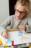 Young girl with art project Stock Image
