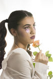 Young girl with artistic make up Royalty Free Stock Images