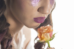 Young girl with artistic make up Stock Image