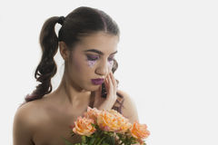 Young girl with artistic make up Stock Photography