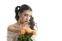 Young girl with artistic make up Royalty Free Stock Photo