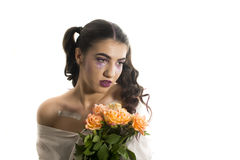 Young girl with artistic make up Royalty Free Stock Image