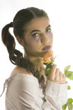 Young girl with artistic make up Stock Photos