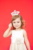 Young girl as little princess carnival costume Royalty Free Stock Image
