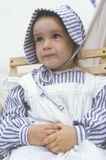 Young girl as participant in period costume during recreation of Battle of Manassas, Virginia Stock Images