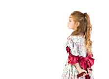 Young girl as princess. On white background Stock Images