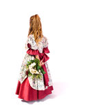 Young girl as princess. On white background Stock Photos