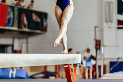 Young girl athlete gymnast Royalty Free Stock Photo