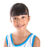 Young Girl In Athletic Attire VI. Young girl in athletic attire over white background Stock Images