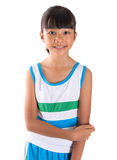 Young Girl In Athletic Attire VII. Young girl in athletic attire over white background Stock Photo