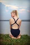 Young girl in athletic swimsuit Stock Photography