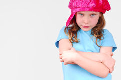 Young girl with attitude Royalty Free Stock Photos