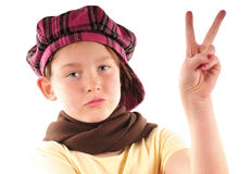 Young girl with attitude Royalty Free Stock Photography