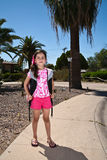 Young Girl with Back pack Royalty Free Stock Images