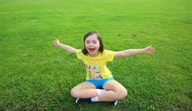 Little girl have fun Stock Photography