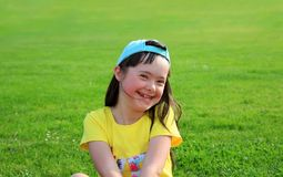 Little girl have fun Royalty Free Stock Photos