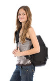 Young girl with backpack Royalty Free Stock Photo