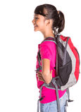 Young Girl With Backpack IX Royalty Free Stock Photos